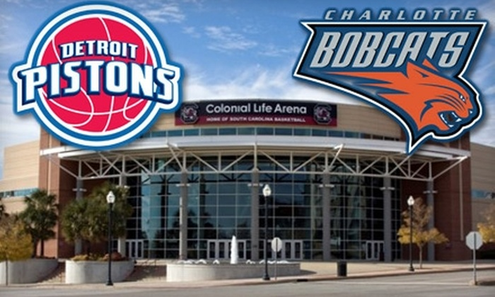 Charlotte Bobcats - The Congaree Vista: $25 for Two Tickets to Charlotte Bobcats vs. Detroit Pistons Preseason Game at Colonial Life Arena on Saturday, October 16 ($50 Value)