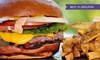 Wings Gourmet Burger - Dublin: Burger, Fries and Wine or Beer For Two or Four at Wings Gourmet Burger