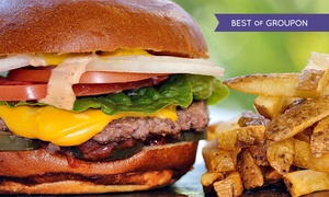 Wings Gourmet Burger: Burger, Fries and Wine or Beer For Two or Four at Wings Gourmet Burger