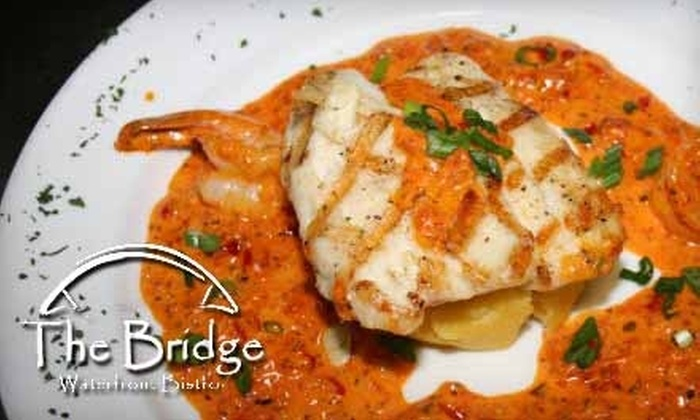 The Bridge Waterfront Bistro - Palm Valley: $12 for $25 of Eclectic Cuisine at the Bridge Waterfront Bistro in Ponte Vedra.