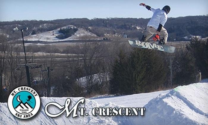 Mt. Crescent Ski Area - Crescent: One Lift Ticket at Mt. Crescent Ski Area. Choose Between Two Options.