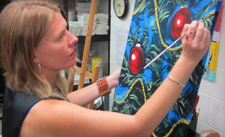 BYOB Painting Class for 1 (a $35 value) - Wine and Design in Asheville