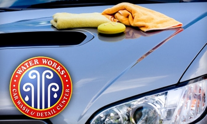 Water Works Car Wash and Detail Center - Multiple Locations: $12 for an Ultra Clear Coat Wash and Rain-X Complete Protectant from Water Works Car Wash and Detail Center ($28 Value)