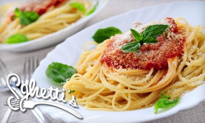 Sghetti's Italian Bistro - Shenango: $7 for $15 Worth of Fare and Drinks at Sghetti's Italian Bistro in New Castle, Pennsylvania