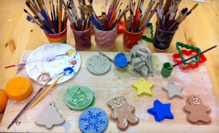Creat and Paint 3 Christmas Ornaments (a $16 value) - Super Awesome Cool Pottery in Orlando