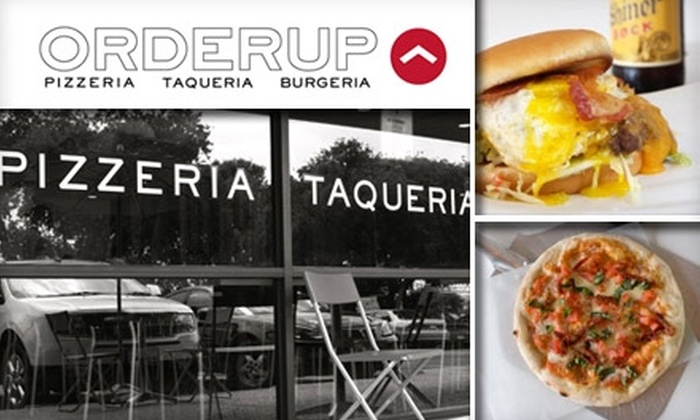 Orderup - San Antonio: $10 for $25 Worth of Bites and Beverage at Orderup