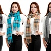 Unisex Posh and Plaid Scarves (2-Pack)