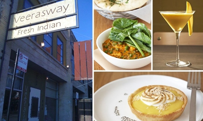 Veerasway - Multiple Locations: $15 for $35 Worth of Indian Fare at Veerasway, Plus 51 Issues of Time Out Chicago
