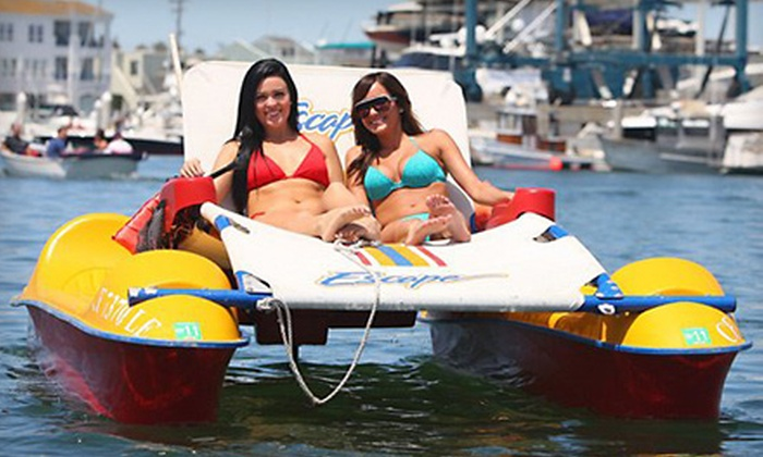 Newport Fun Tours - Newport Pier: Two-Hour Kayak, Paddleboard, or Electric Lounger Rental from Newport Fun Tours in Newport Beach (Up to 55% Off)
