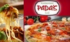Half Off at Papa's Restaurant and Deli
