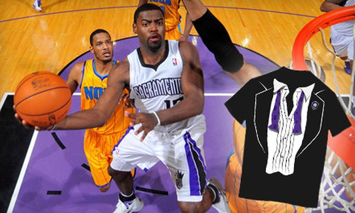Sacramento Kings - Natomas Crossing: Two-Game Sacramento Kings Ticket Package for December 31 and January 1 with Limited Edition Kings New Year's Eve Tuxedo T-shirt at Power Balance Pavilion. Two Options Available.