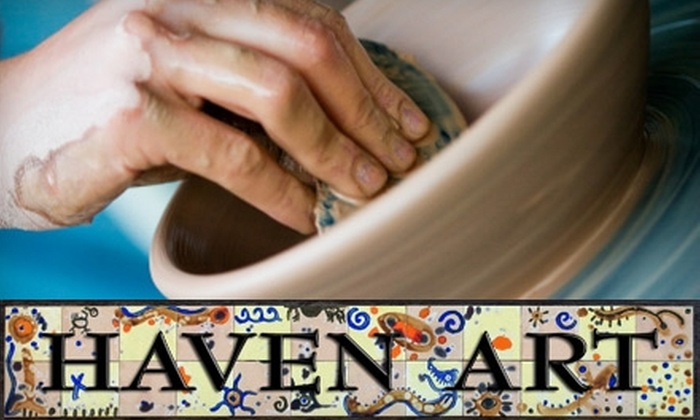Haven Art - Port Washington: $25 for Two Basic Pottery Classes at Haven Art