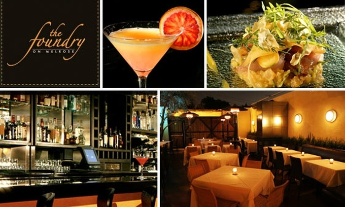 The Foundry on Melrose - Melrose: $35 for $70 Worth of Gourmet Eats and Drinks at The Foundry on Melrose