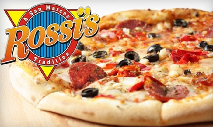 Rossi's Pizza - San Marcos: $10 for $25 Worth of Pizza and Italian Classics at Rossi's Pizza in San Marcos