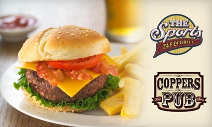 The Sports Tap & Grill or Coppers Pub - Downtown Kingston: $7 for $14 Worth of Grill Fare at The Sports Tap & Grill or Coppers Pub