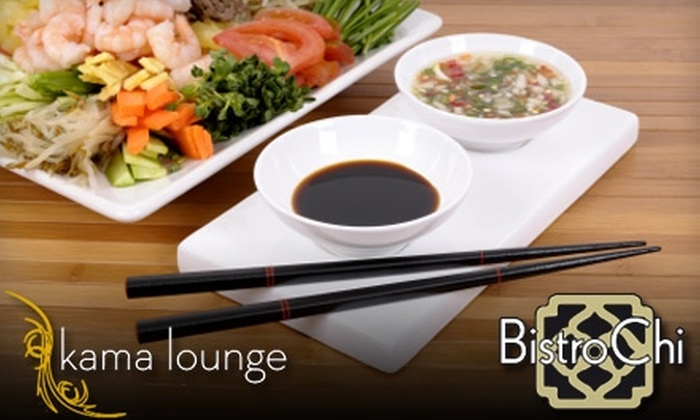 Bistro Chi - Multiple Locations: $25 Worth of Chinese Fare at Bistro Chi or Kama Lounge in Quincy