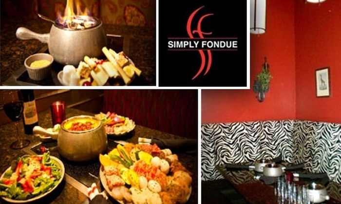 Simply Fondue (OC) - Multiple Locations: $25 for $50 Worth of Dippables, Entrees, and Drinks at Simply Fondue