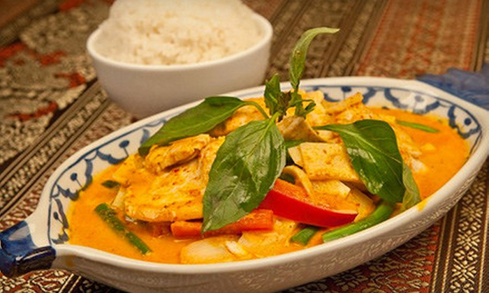 Thai Hut - Deerfield and Sunset: $23 for Dinner for Two with One Appetizer, Two Salads, and Two Entrees at Thai Hut in Southington (Up to 46.75 Value)