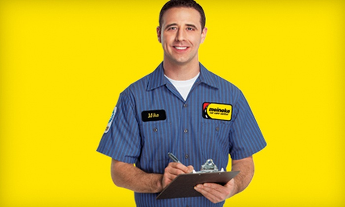 Meineke Car Care Centers - Multiple Locations: Oil Change or Four-Wheel Alignment at Meineke Car Care Centers (Up to 59% Off)