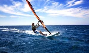 Windsurfschule Niddastausee: Schnupperkurs Windsurfen inkl. Betreuung und Ausrüstung in der Windsurfschule Niddastausee (50% sparen*)