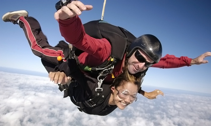 Skydive Barnstable - Cape Cod Airfield: $149 for a Tandem Skydive for One at Skydive Barnstable ($249 Value)