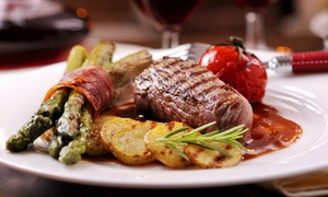 Libar Steakhouse: Steak-House Dinner with Bottle of Wine for Two or Four at Libar Steakhouse (Up to 46% Off)