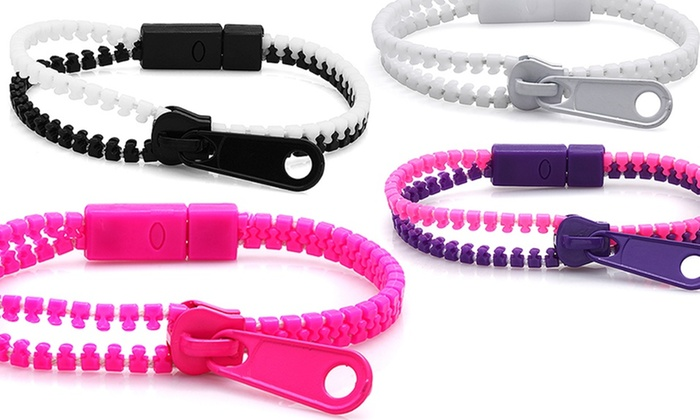 10-Pack of Colourful Zipper Bracelets: $11.99 for a 10-Pack of Colourful Zipper Bracelets ($45 List Price)