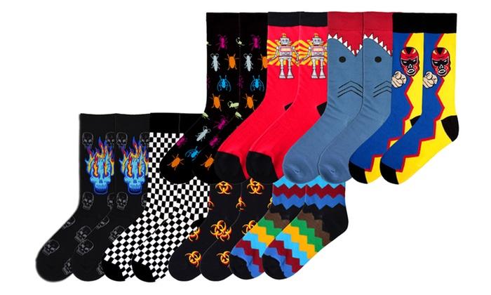K. Bell Men's Sock Bundles: K. Bell Men's Hazard or Fundle Sock Bundles