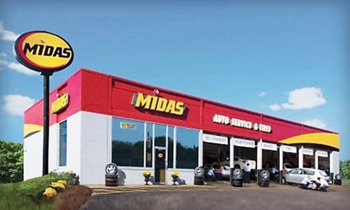 Midas - Multiple Locations: Regular or Synthetic Oil Change with Tire Rotation at Midas (Up to 51% Off)