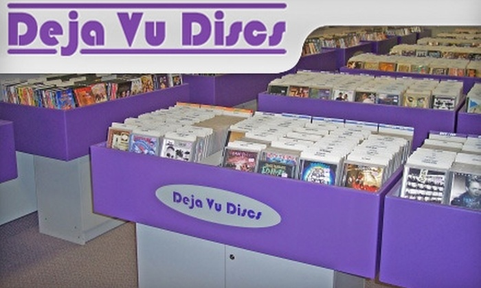 Deja Vu Discs - Multiple Locations: $12 for $25 Worth of Pre-Owned CDs, DVDs, Blu-Ray Discs, and Video Games at Deja Vu Discs