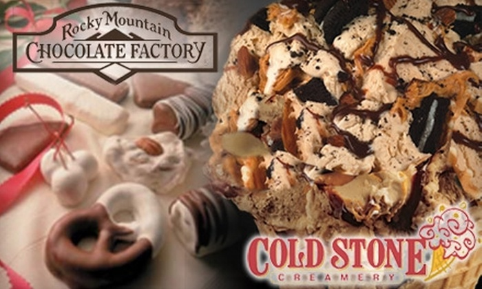 Cold Stone Creamery/The Rocky Mountain Chocolate Factory - Pleasantville: $5 for $10 Worth of Ice Cream at Cold Stone Creamery and Chocolate from The Rocky Mountain Chocolate Factory in Pleasantville