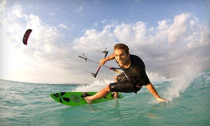 Wind Over Water Kiteboarding - Burlingame: $100 for a Two-Hour Beginner Beach Lesson in Kite Boarding from Wind Over Water Kiteboarding in Burlingame ($200 Value)