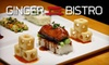 Half Off Asian Fare at Ginger Bistro