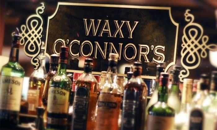 Waxy O'Connor's - Downtown Miami: $10 for $20 Worth of Pub Fare and Drinks at Waxy O'Connor's