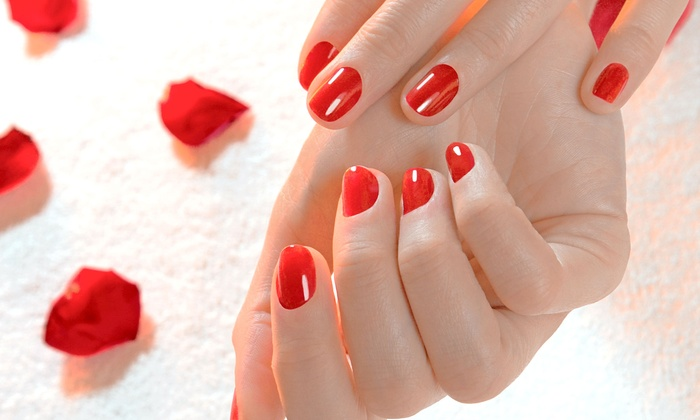 The M Salon - Beverly Hills: One or Two Shellac Manicures at The M Salon (Up to 53% Off)