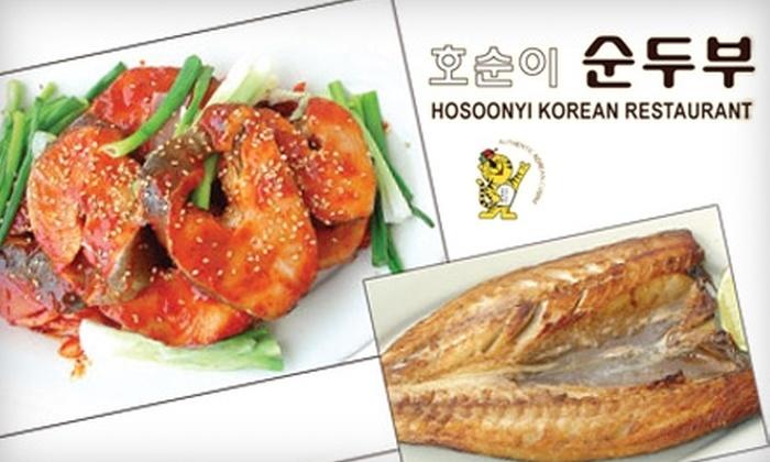Hosoonyi Korean Restaurant - Fruitland Acres: $12 for $25 Worth of Authentic Korean Cuisine at Hosoonyi Korean Restaurant in Edmonds