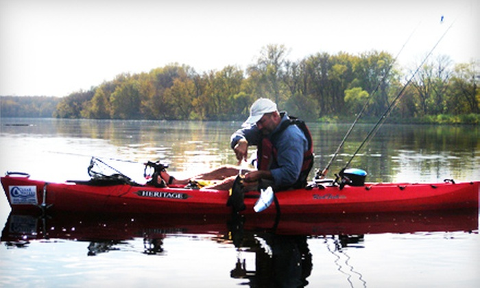 Clear Waters Outfitting Company - Clear Waters Outfitting: $49 for a Kayak-Fishing Package on the Mississippi River from Clear Waters Outfitting Company in Clearwater ($99 Value)