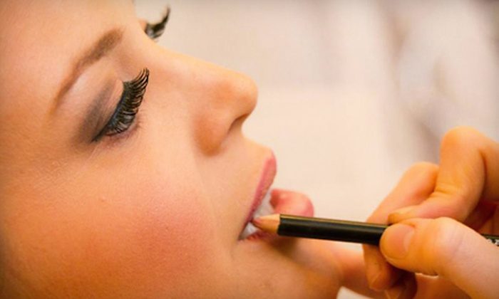 Dina's Kiss and Makeup - Downtown,Meat Packing District,Newport,Pavonia,The Waterfront,Tribeca: Makeover Package or Makeup-Lesson Package at Dina's Kiss and Makeup in Hoboken (Up to 72% Off)