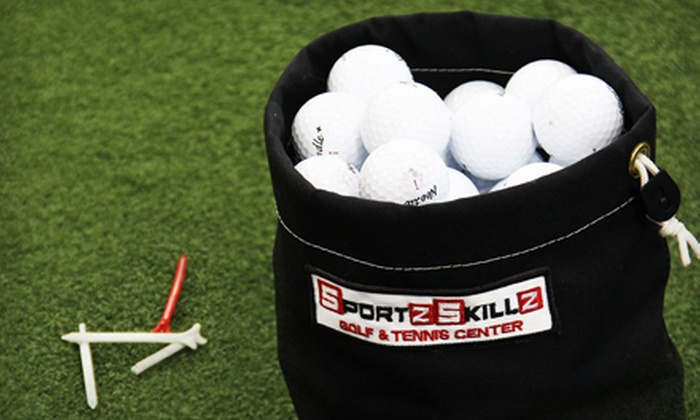 Sportz Skillz Golf & Tennis Center - Garden Ranch: 10 Buckets of Range Balls or One Golf Lesson and Range Balls at Sportz Skillz Golf & Tennis Center (Up to $85 Value)