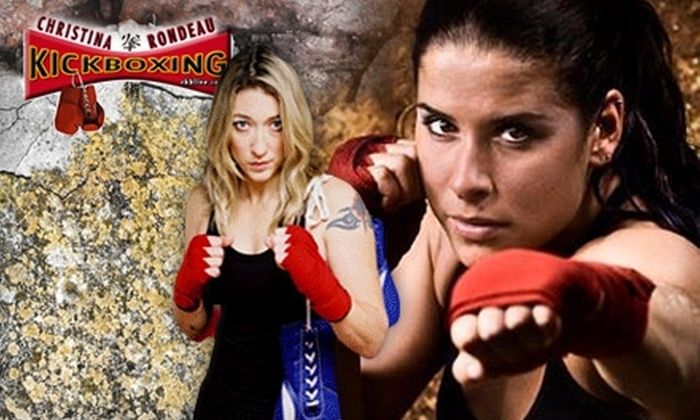 Rondeau's Kickboxing - Multiple Locations: $21 for 21 Days of Unlimited Classes at Women's-Only Rondeau's Kickboxing (a $246 Value)