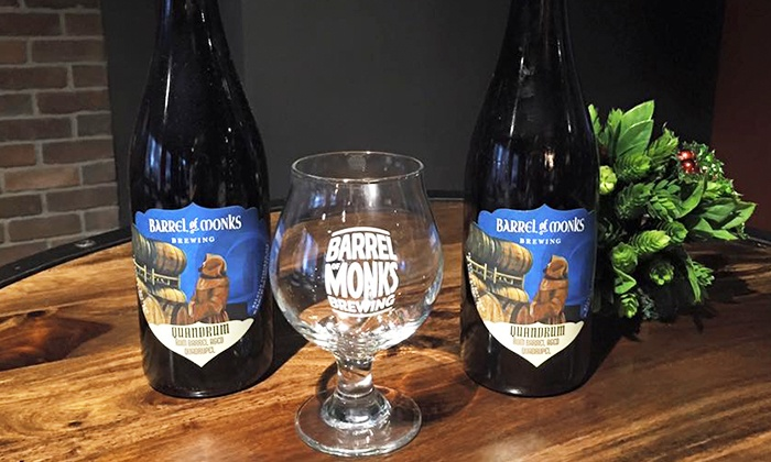 Barrel of Monks Brewing - Northwest Boca Raton: Brewery Tour with Tasting and Souvenir Glasses for Two or Four at Barrel of Monks Brewing (Up to 51%Off)