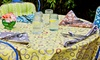 Organic Printed Tablecloths: Organic Printed Tablecloths from $21.99–$26.99