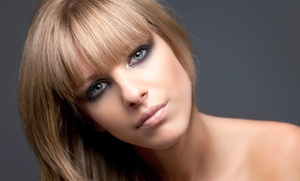 Salon Fusion: Cut with Conditioning with Optional Partial Highlights or Root Touchup (Up to 54% Off)