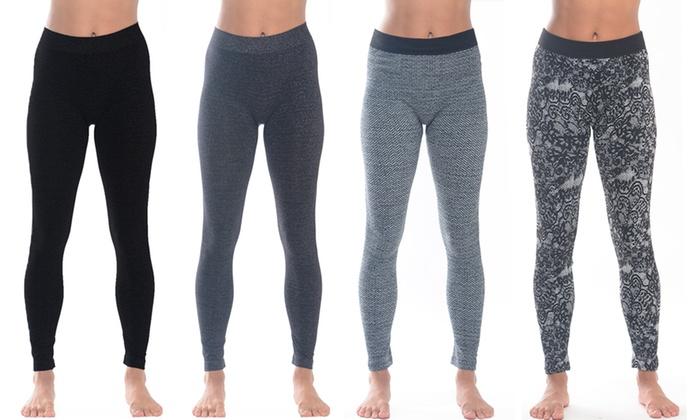 4c2347f4c2e659 Up To 77% Off on Women's Fleece Leggings (4-Pack)   Groupon Goods