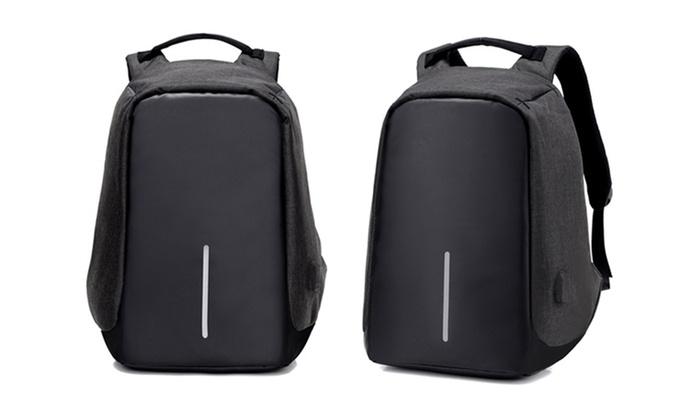 sac dos port de chargement usb groupon shopping. Black Bedroom Furniture Sets. Home Design Ideas