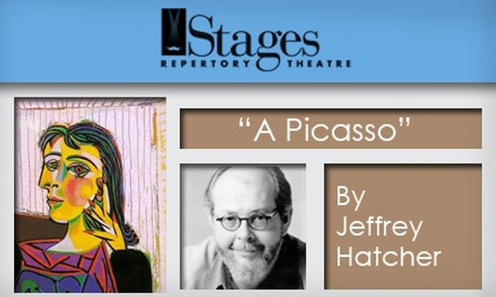 "Stages Repertory Theater - Neartown/ Montrose: $14 Ticket to ""A Picasso"" at Stages Repertory Theatre. Buy Here for 1/28/10 ($26–$31 Value). See Below for Additional Dates."