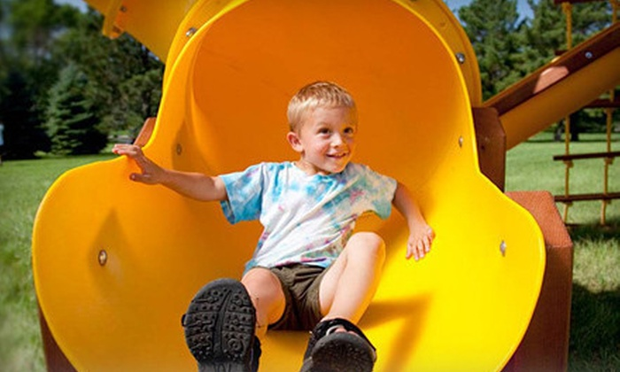 Rainbow Play Systems - Multiple Locations: Three Weekday or Weekend Play Sessions at Rainbow Play Systems (Half Off). Two Locations Available.