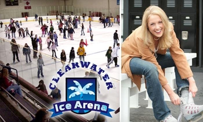 Clearwater Ice Arena - Largo: Public Skate Admission or Skating or Hockey Classes at Clearwater Ice Arena. Choose from Three Options.