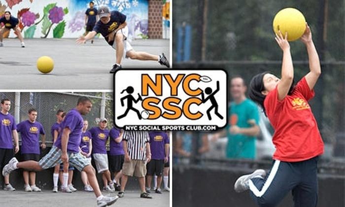 NYC Social Sports Club - New York City: $49 for a Seven-Week Kickball Membership from NYC Social Sports Club ($100 Value)