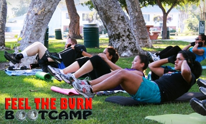 Feel The Burn Bootcamp  - Multiple Locations: $30 for One-Month Membership at Feel The Burn Bootcamp ($195 Value)